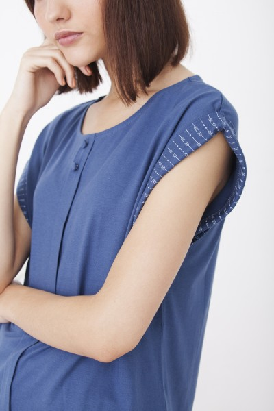 Camiseta Helena azul cobalto oversize