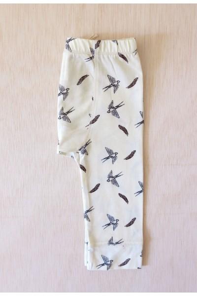 Pantalón bebe con estampado pájaros