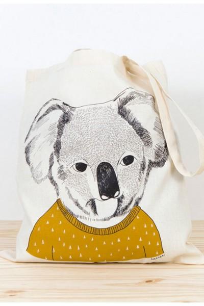 Koala printed tote bag