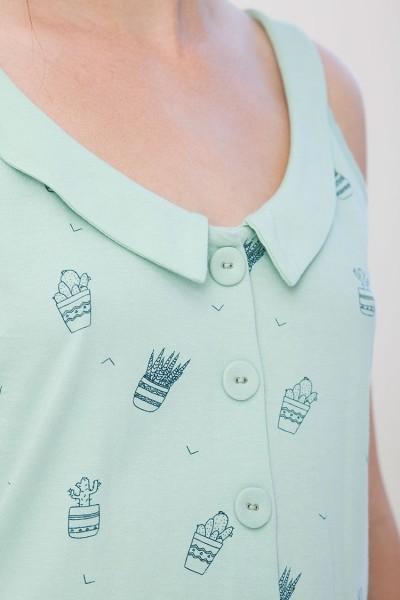 Camiseta reversible Isabella estampado cactus.