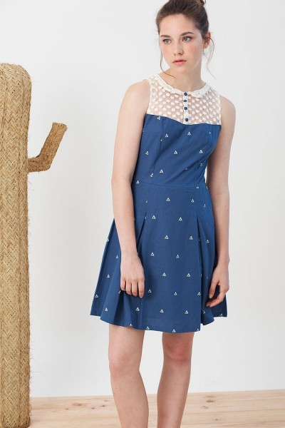 Isadora dress with triangles print