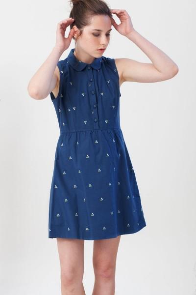 Ina dress with triangles print