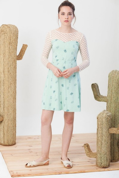 Irina dress in light green.