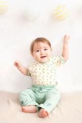Pantalón bebé verde con estampado de cactus