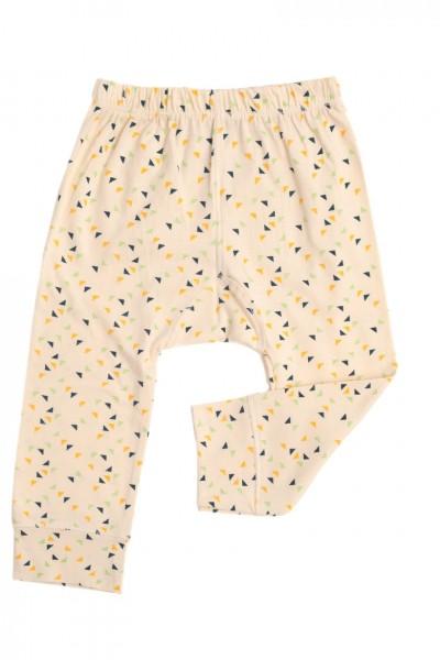 Pantalón bebe con estampado de triángulos multicolor