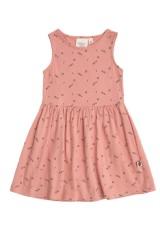 Vestido de tirantes rosa con estampado