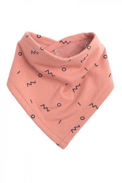 Babero reversible rosa con estampado abstracto