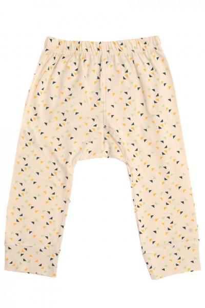 Pantalón bebé con estampado de triángulos multicolor