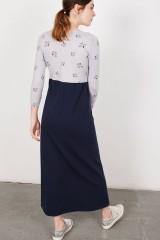 Maxi vestido Lara azul marino.