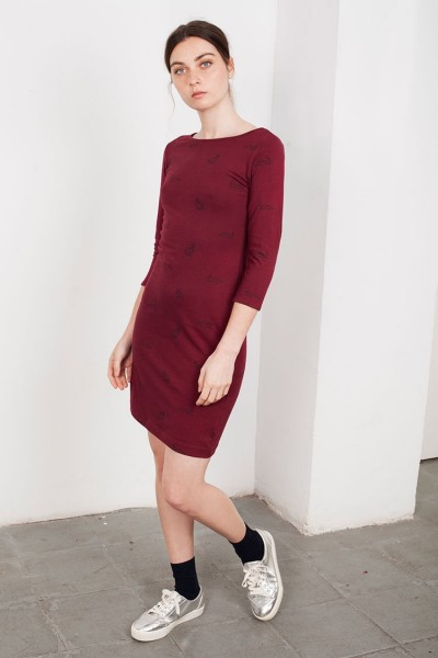 Tight bordeaux Leia dress
