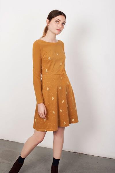 Mustard Yoke Laina dress