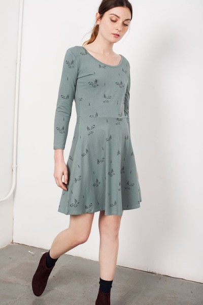 Green Mid-skirt Lorianne dress