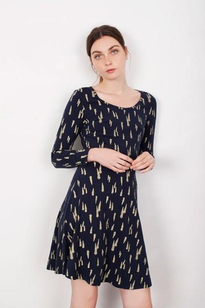 Navy Mid-skirt Lorianne dress