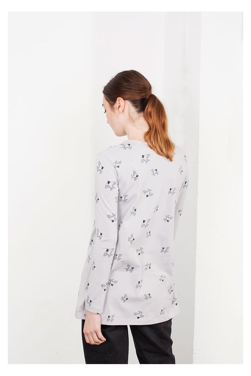 Camiseta Louise gris estamapado