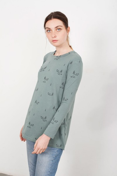 Camiseta Louise verde estampado