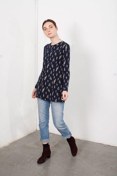 Navy blue Louise Longsleeve T-Shirt