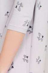 Vestido oversize Laura gris estampado