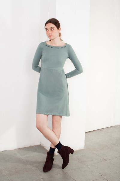 Green Embroidery Lucy dress