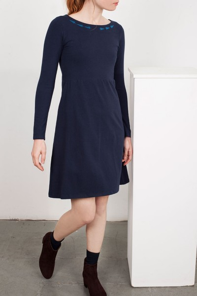 Navy blue Embroidery Lucy dress