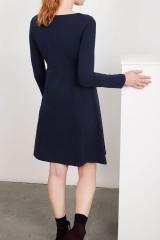 Vestido bordado Lucy azul marino