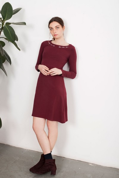 Garnet Embroidery Lucy dress