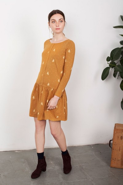 Lindy Charlestón dress in Mustard