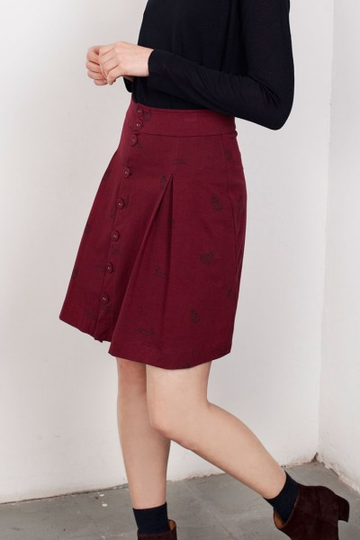 Garnet Lane Short Buttoned Skirt