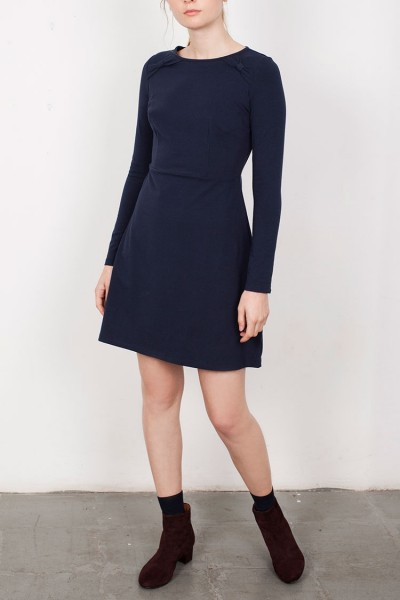 Navy Blue Lilly Bow Dress