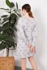 Vestido lazo Lilly gris estampado