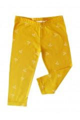 Yellow origami print leggins