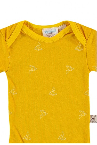 Yellow origami print body