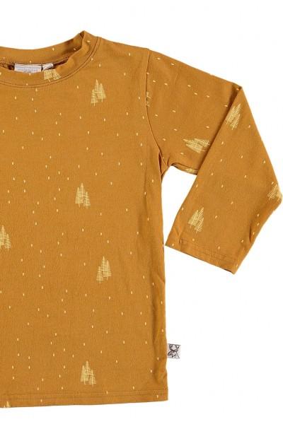 Camiseta manga larga unisex mostaza
