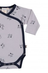 Body kimono gris combinado