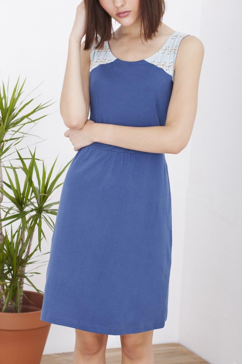 Vestido Hela azul cobalto