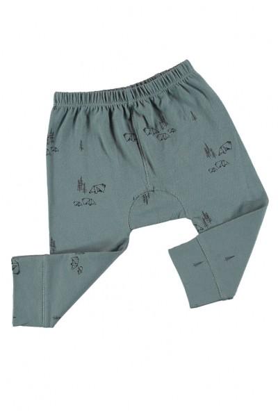 Pantalones bebé verde estampado origami