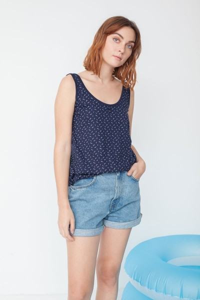 Mia tank top in navy blue