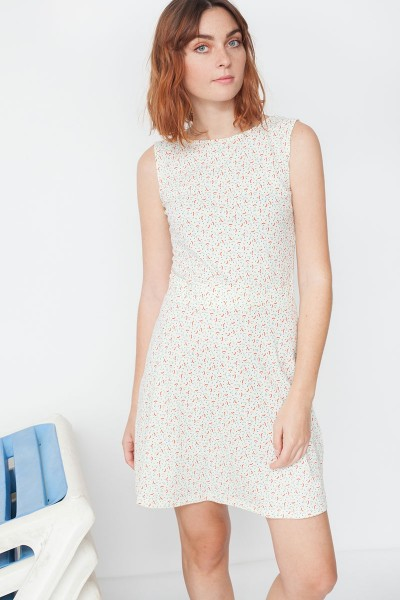Mila Peter Pan collar reversible dress with geometric print