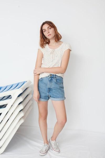 Maria short sleeve t-hirt with geometric print
