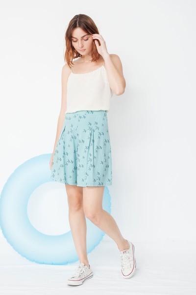 Mandy short pants with birds print