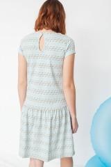 Vestido ecológico Miranda tipo charlestón en estampado flechas