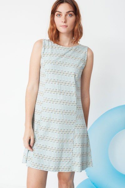Mariel flared dress with arrow print