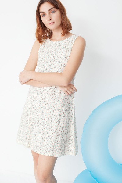 Mariel flared dress with geometric print