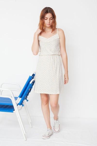 Marisa strapless dress with geometric print