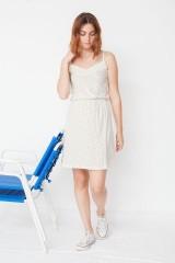 Vestido de tirantes ecológico Marisa con estampado geométrico