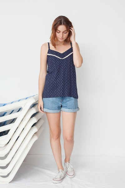Marsha tank top in navi blue