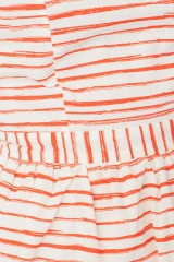 Vestido Moira de manga corta con botones traseros y estampado rayas marineras