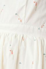Vestido Moira de manga corta con botones traseros y estampado nadadoras