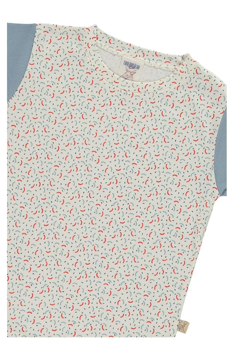 Camiseta unisex con estampado geométrico