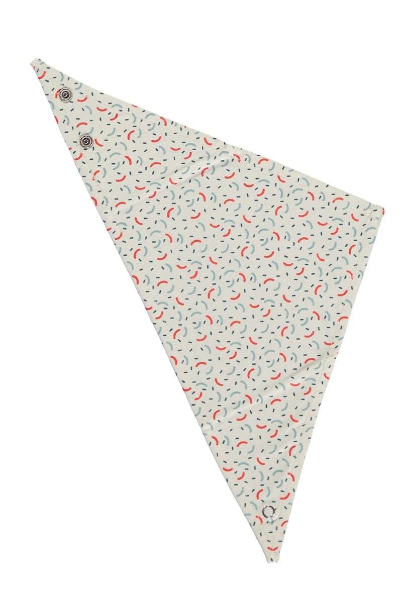 Babero reversible con estampado geométrico