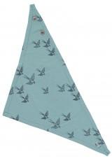 Babero reversible azul con estampado golondrinas